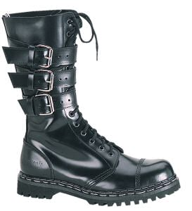 Gravel - Men's Ankle High Boots with Buckle Straps and Steel Toe